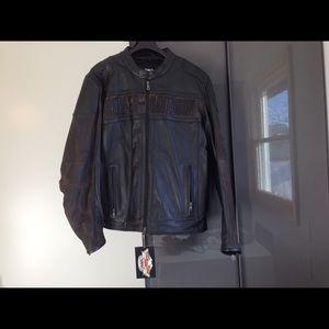 2cbcd095 Harley-Davidson Jackets & Coats - Harley Davidson nightfall camo leather  jacket